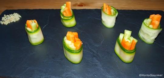 Rollitos de calabacín y verduras HortoGourmet