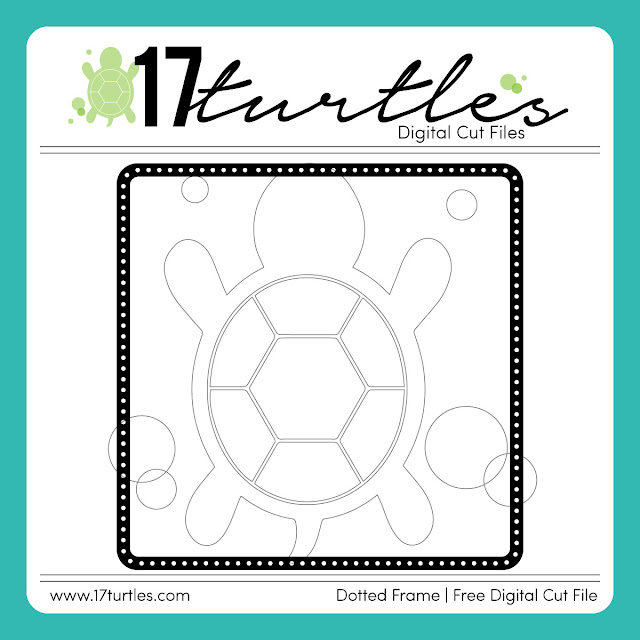 Dotted Frame Downloadable Free Digital Cut File by Juliana Michaels 17turtles