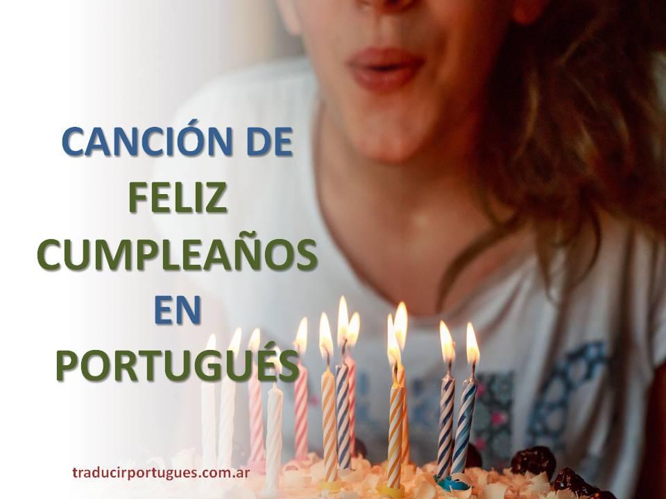 Carta de feliz cumpleanos en portugues