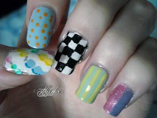 Pastel goth base nails