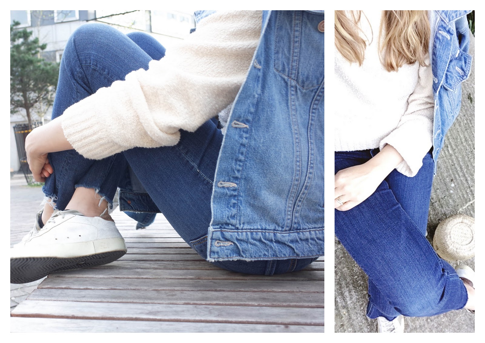 Mother denim fray, Doen phoebe basket, easy outfit uniform