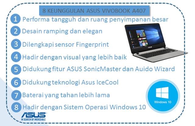 8 Keunggulan Laptop Asus Vivobook A407 - Blog Mas Hendra