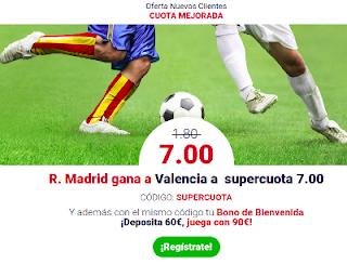 Oferta Nuevos Clientes Marathonbet Valencia vs Real Madrid 27 enero