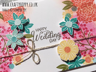 How to make a dreamy wedding card using Stampin' Up! products including the Beautiful Bouquet Stamp Set