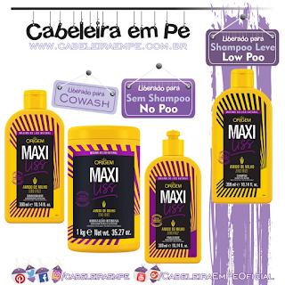 Maxi Liss - Nazca (Shampoo Low Poo - Condicionador, Máscara E Finalizador No Poo)