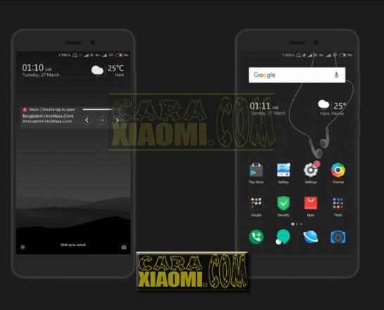 Thema Xiaomi MIUIV9 Parallel Dark Mtz Update Tema Keren Terbaru