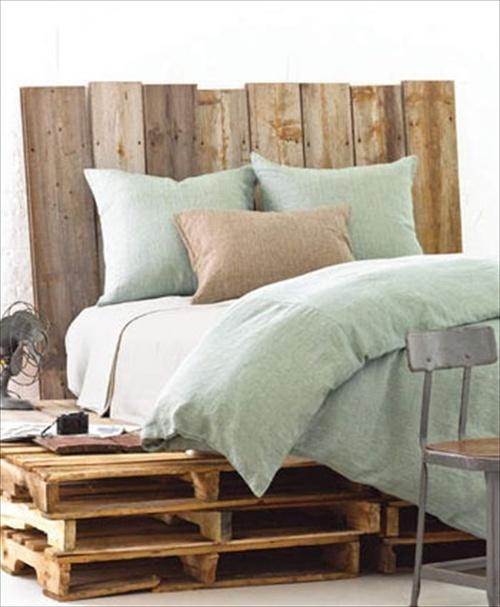 Pallet Bed Frame Plans | Pallet Furniture Ideas