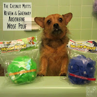 The Chesnut Mutts Review and Giveaway Absorbine Woof Pouf