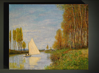 'Small Boat on the Small Branch of the Seine at Argenteuil' d'après Monet.