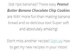 RECIPE - PEANUT BUTTER BANANA CHOCOLATE CHIP COOKIES