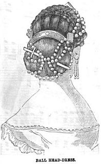 Ball Head-Dress from Peterson's, 1865