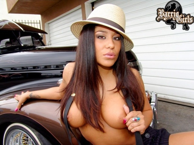 lowrider latina girl topless