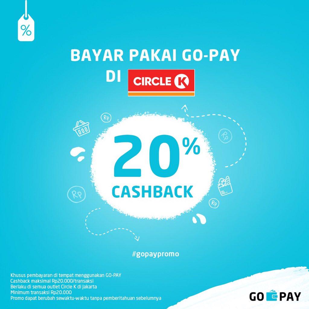 CircleK - Promo Cashback 20% Maks 20K Pakai GOPAY