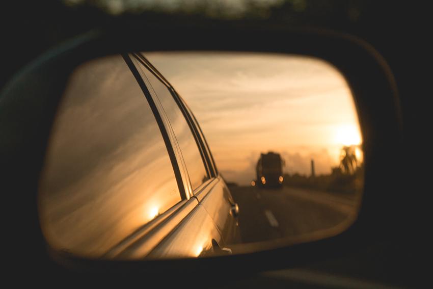 reflexo no retrovisor