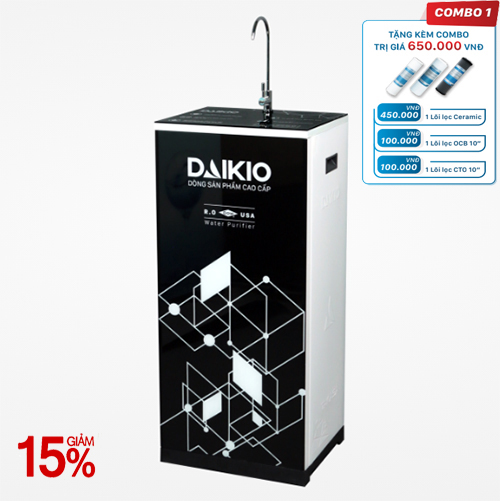 Máy lọc nước Daikio thông dụng DKW-00007H- đen -7 cấp