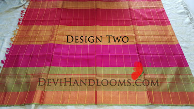uppada multi color checks saree