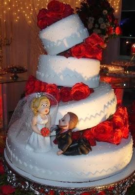Decoração bolos de casamento 2014 diferentes