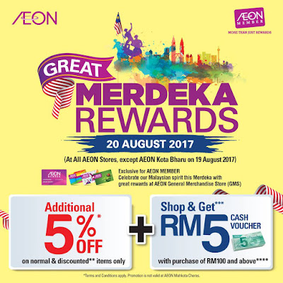 AEON Member General Merchandise Store (GMS) Merdeka Rewards