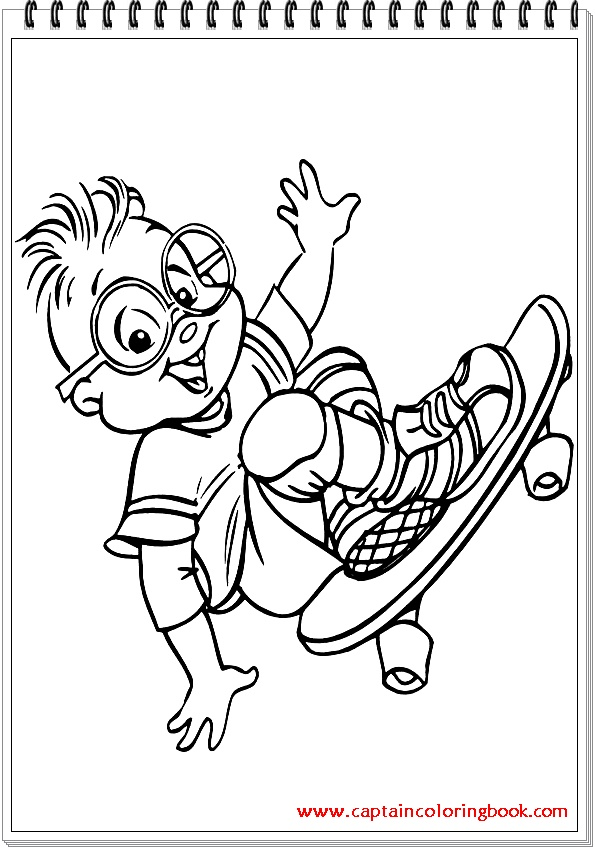 Nickelodeon Coloring Pages Colorings Alvin And The Chipmunks Kids ... | 849x595