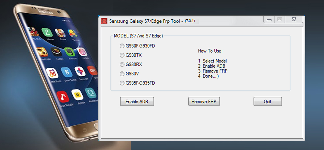 Samsung Galaxy S7 Edge FRP Remove Tool Free Download