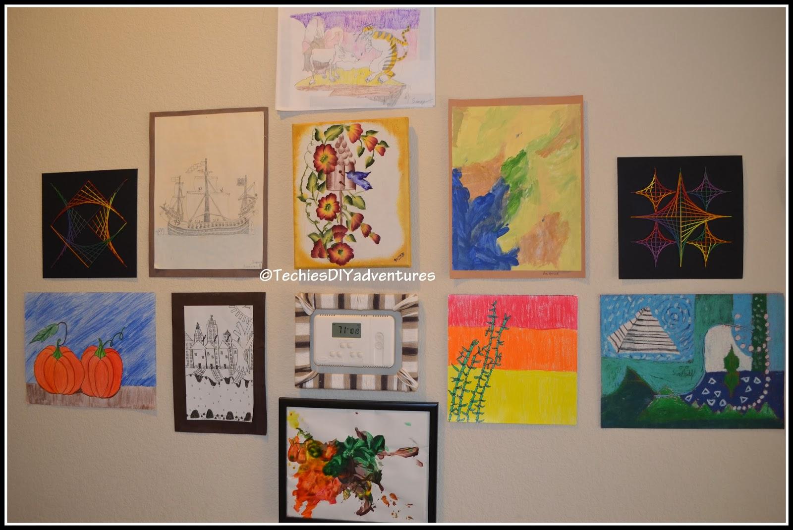 Kids Artwork Gallery Wall