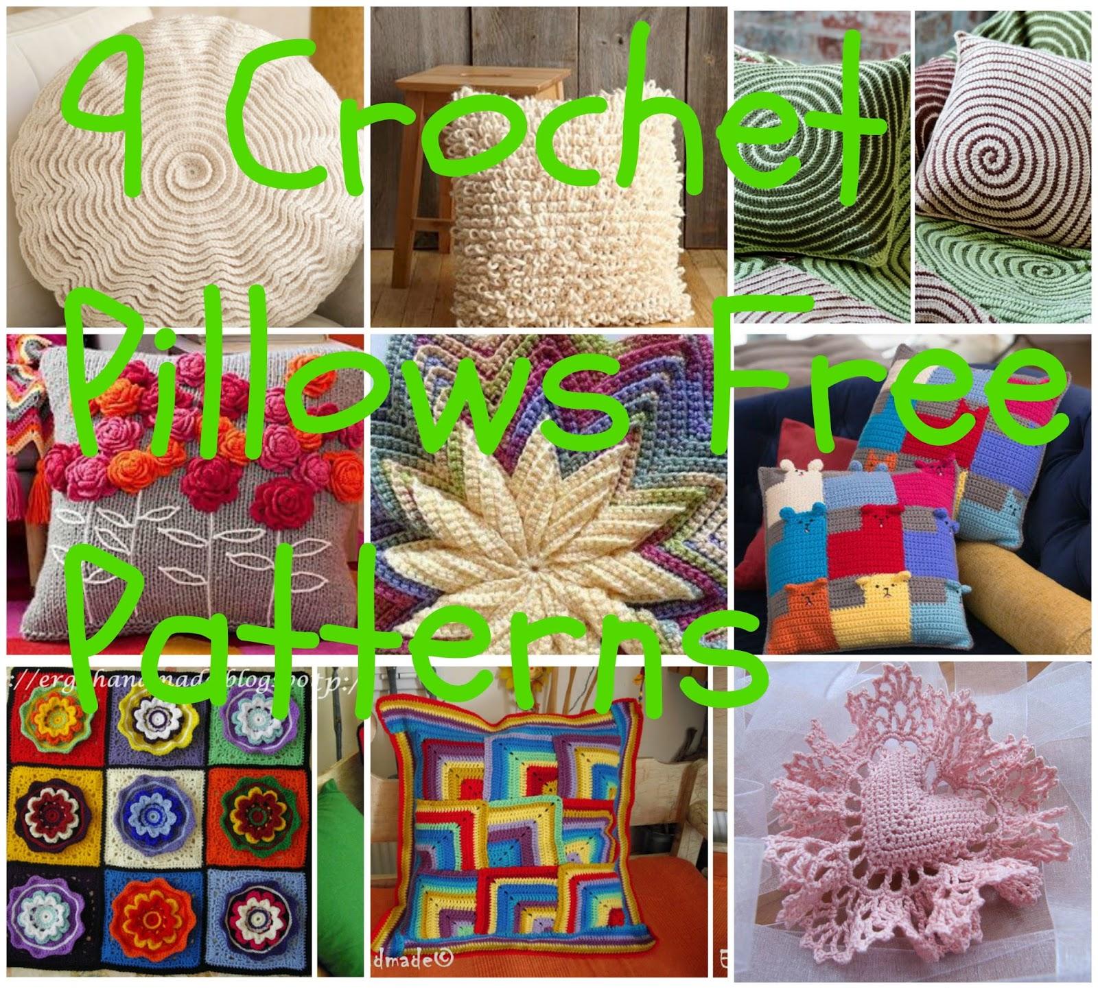 ergahandmade: 9 Crochet Pillows + Free Crochet Patterns