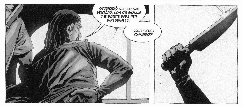 """Vignetta tratta da TWD Vol.05 """"La miglior difesa"""" (pagina 79 - SaldaPress)"""