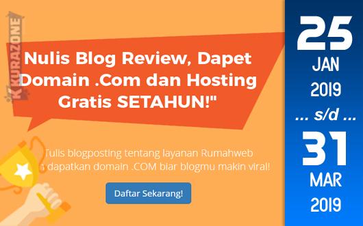 Kompetisi Blog - Rumahweb 17 Tahun Berhadiah Domain .Com + Wordpress Hosting 1 Cloudlet 1 tahun (31 Maret 2019)
