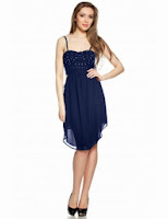 Rochie asimetrica corset tinte bleumarin