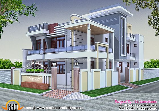36x62 modern house in India