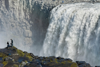 Popular waterfalls in the north of Iceland
