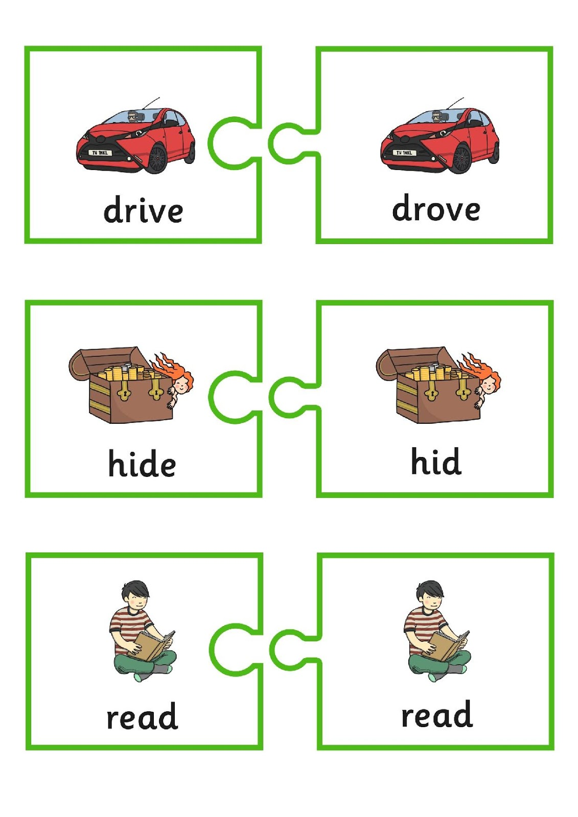 Grammar Irregular Verbs Flashcards And Worksheets
