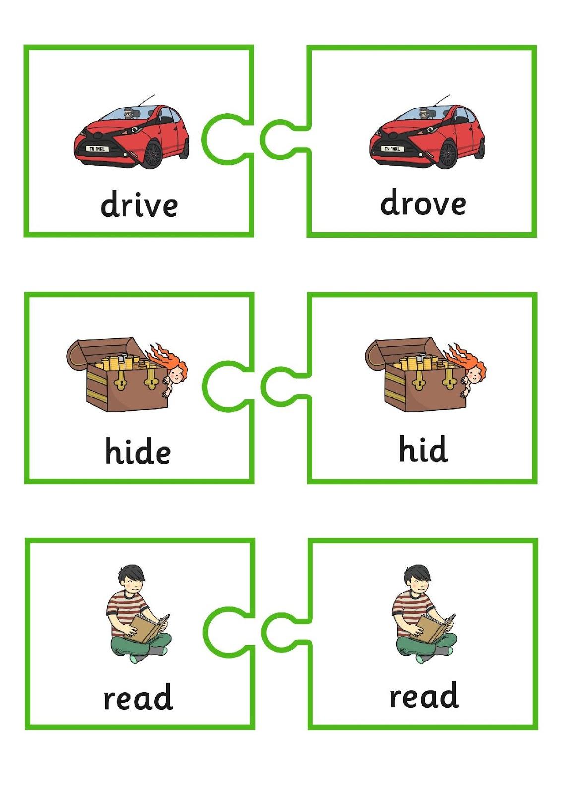 Grammar Irregular Verbs Flashcards And Worksheets
