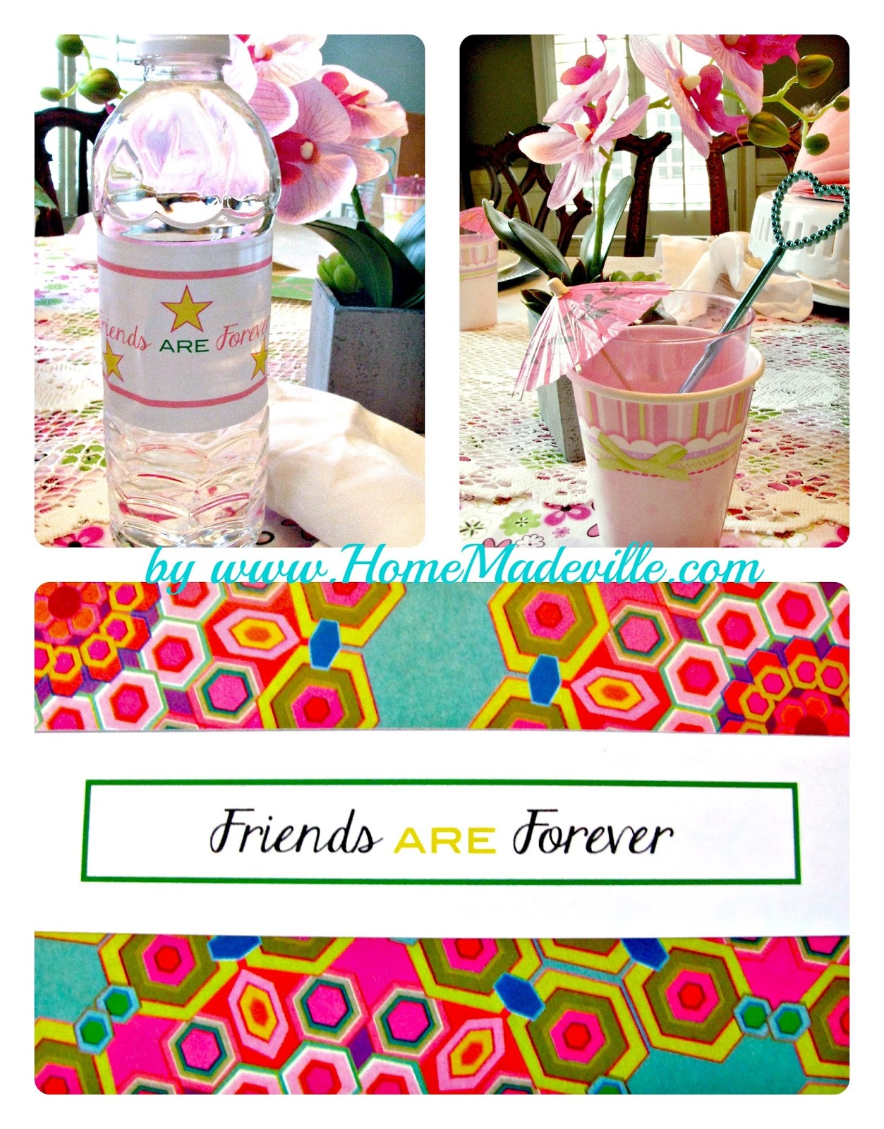 Friends are Forever American Girl Party Decor with free printables.