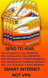 TNT Techno User SIM - Mobile Numbers Prefix & Latest Promos!