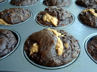 Chocolate Banana Peanut Butter Muffins {Alida's Kitchen}