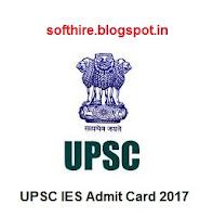 UPSC IES Admit Card