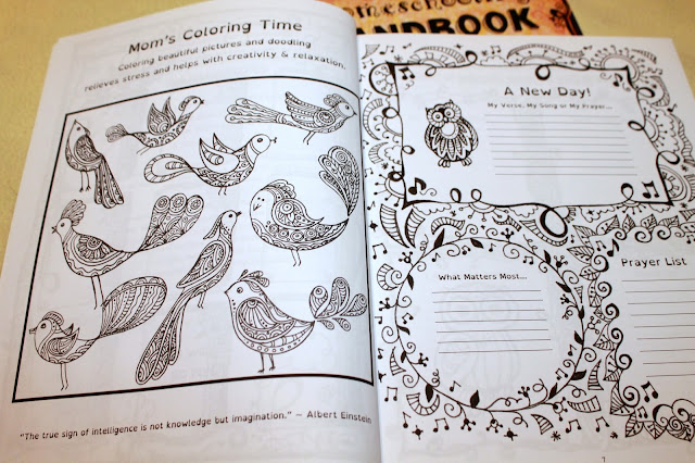 Homeschooling Handbook for Mom (butterfly & horse covers)