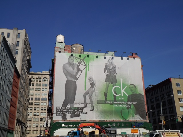 Giant CK One Box NYC billboard