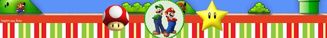 Etiquetas para Imprimir Gratis de Fiesta de Super Mario Bros.