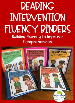 Reading Intervention Fluency Binders