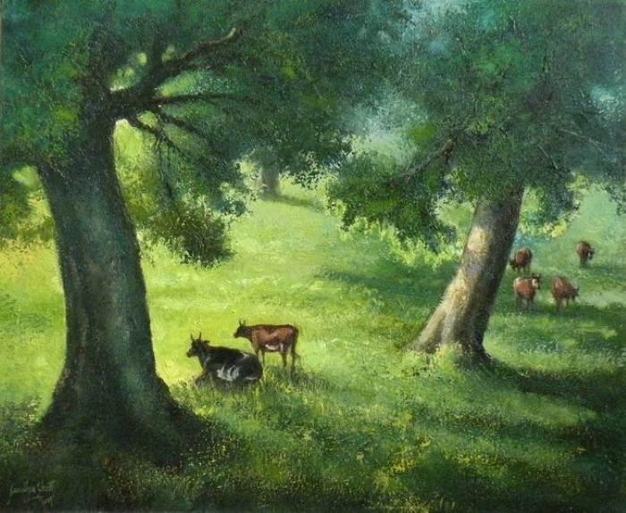 Пейзажи и фигуративные картины маслом. Sandhyaa Shetty