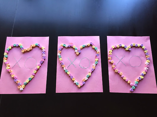 Candy Heart Art Project