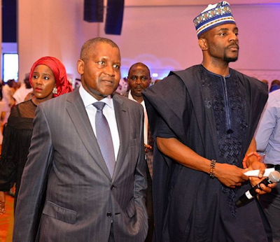 Ebuka Pictured With Dangote At Dangotegroup's Gala And Awards Night