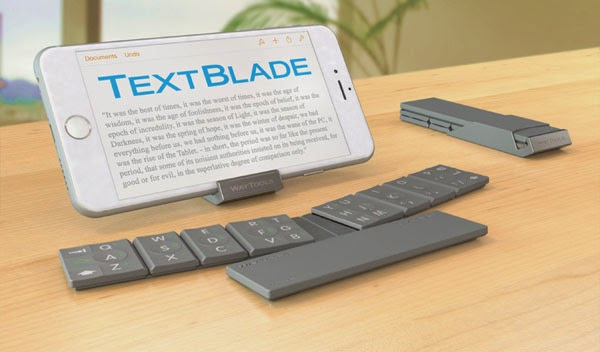 WayTools launches collapsible magnetic keyboard TextBlade for iOS