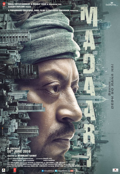 Poster Of Madaari 2016 480p Hindi DVDScr Full Movie Download And Watch Online