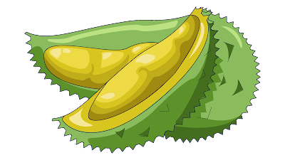download clipart buah durian