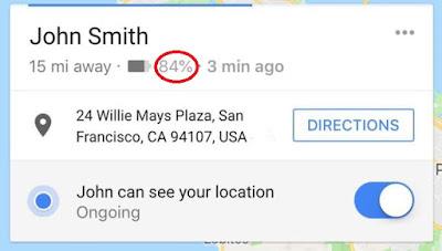 Google Haritalar Konum Paylaşımı Artık Pil Ömrünüzü de İçeriyor