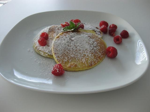 Pancakes mit frischen Himbeeren vom Südtiroler Foodblog kebo homing, Rezept