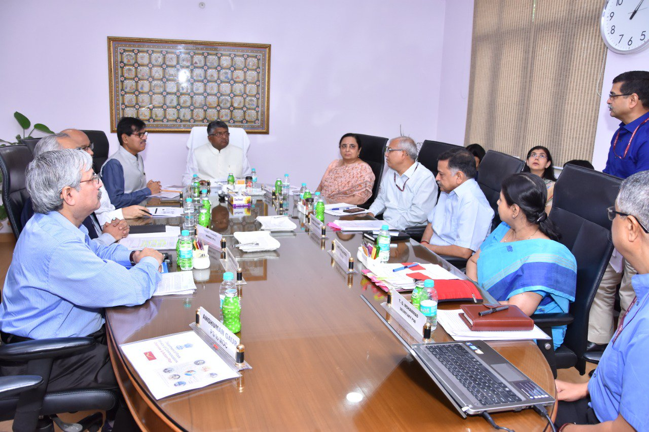 sh ravishankar prasad review meeting